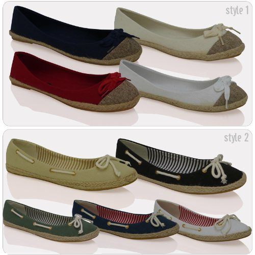 ByPublicDemand T1 Womens Slip On Casual Plimsolls Espadrilles Summer Shoes