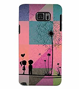 PrintVisa Romantic Love Couple 3D Hard Polycarbonate Designer Back Case Cover for Samsung Galaxy Note 5