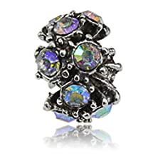 buy Silver Colorful Crystal Charms Large Hole Beads - Perfect Women Teens Accessories Part For Jewelry Making