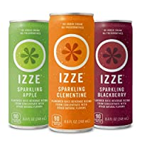 Izze Sparkling Juice Variety Pack, 8.4 Ounce (Pack of 24)