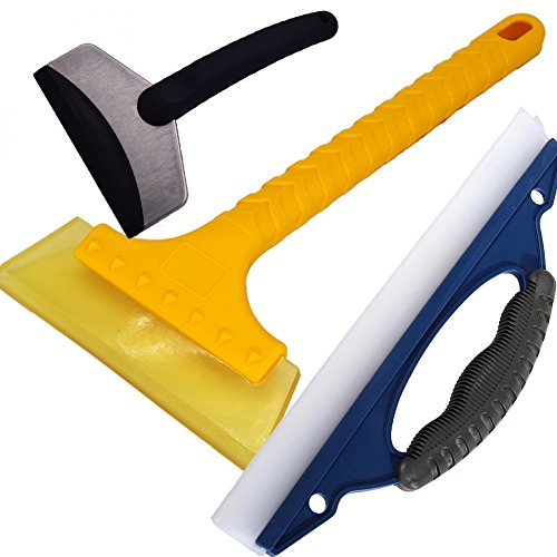 Wash Blade Snow Ice Scraper Set of 3 (Both of Soft and Hard) Emergency Snow Remove Tool Ice Shovel Car Auto plate Wash Water Snow Brush Wiper Windshield Glass Cleaning Kit (Ice Car Wash compare prices)