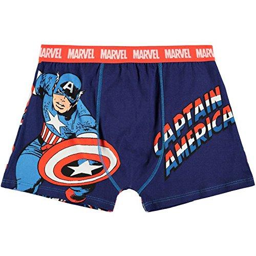 Marvel Captain America -  Boxer  - Uomo blu XXL