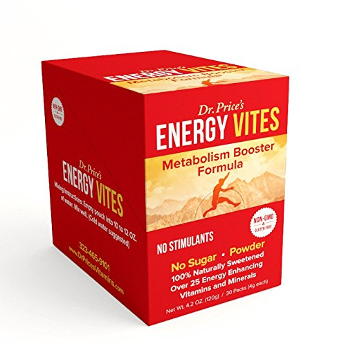Energy Vites: Metabolism Booster Formula + B Complex & CoQ10 | (30 powder packets) Natural Energy Drink Mix | Dr. Price's Vitamins (Natural Sugar Free Drink Mix compare prices)