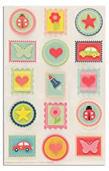 Martha Stewart Crafts Stickers Bright Stamps By The Package