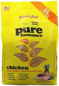 GRANDMA LUCY'S 844212 Pureformance Grain Free Chicken Food for Dogs, 10-Pound