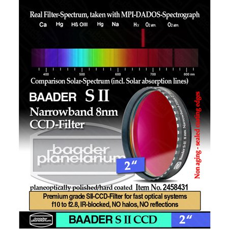 "Baader Planetarium 8Nm Sii Ccd Filter, 2"" Mounted"