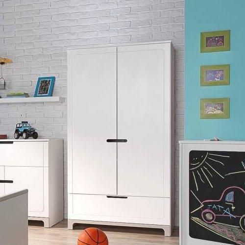 Kinderkleiderschrank MINI, weiß, 2-türig, 1 Schublade, Softclose-System online bestellen