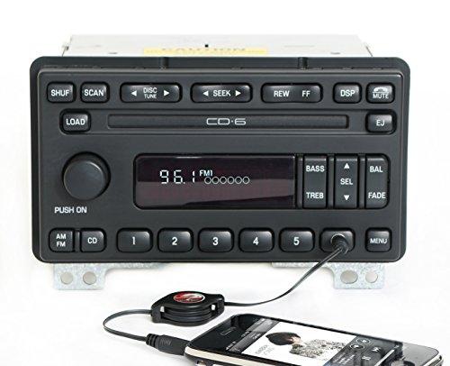 lincoln-aviator-03-04-audiophile-radio-amfm-6-disc-cd-w-aux-input-3c5t-18c815-ab