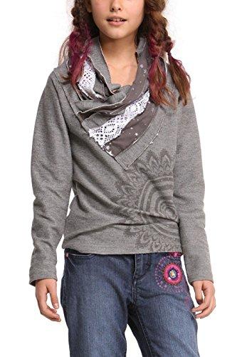 Desigual Kids Mädchen 48S3153 Sweatshirt COLWOOD in GRIS PERLA Größe 158/ 164 - 13-14J