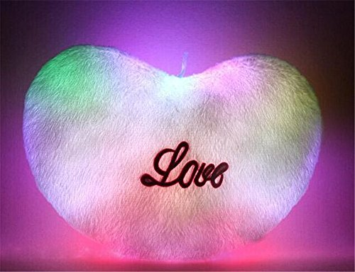 Oliadesign® Led Light Up Glow Heart Love Pillow Valentines Day Gift