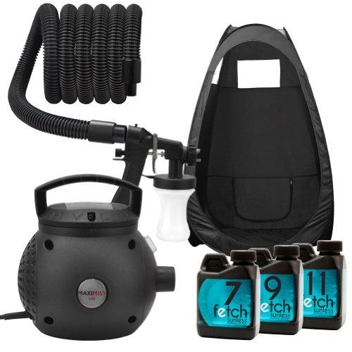 Maximist Lite Hvlp Spray Tan Machine Fetch Sunless Dha Tanning Black Tent Kit 1A front-774083