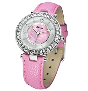 Westlinke Women Watch Casual Fashion Clock Quartz Analog Crystal Charm Diamond 10 Water Resistant Watch