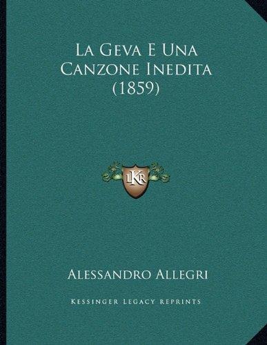 La Geva E Una Canzone Inedita (1859)