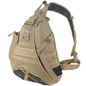 Maxpedition Monsoon Gearslinger - Mochila (25 L) marrón caqui Talla:25lt