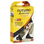 Futuro Restoring Socks, Dress, Over the Calf, Large, Black