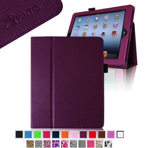 Fintie (Purple) Folio Leather Case Cover For Ipad 4Th Generation With Retina Display, The New Ipad 3 & Ipad 2 (Built-In Magnet For Sleep / Wake Feature)-9 Color Options