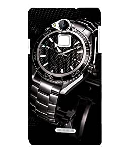 printtech Steel Watch Back Case Cover for Coolpad Note 3 Lite Dual SIM with dual-SIM card slots