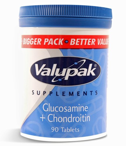 Valupak Supplements Joint Care Glucosamine & Chondroitin Tablets 400/100mg  90 Tablets