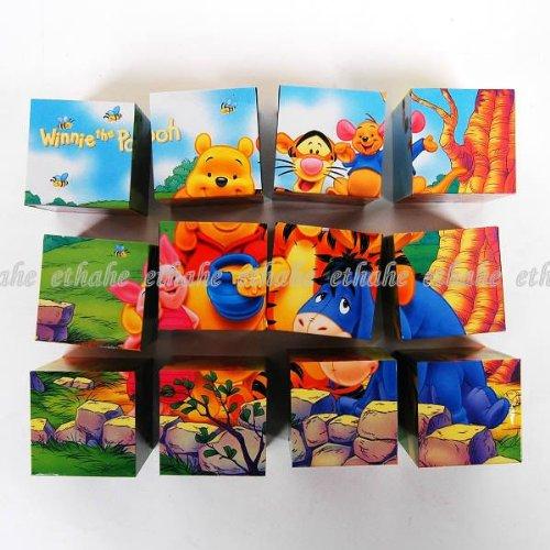Cheap Winnie the Pooh Winnie the Pooh Magic 12 Cube 3d Puzzle Toy Game (B00432Q89I)