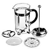 Secura 1 Liter Glass French Press Coffee Maker, 34-Ounce, BONUS Stainless Steel Screen