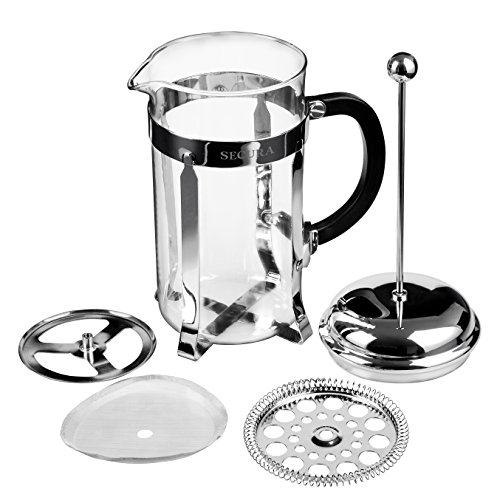 Secura-1-Liter-Glass-French-Press-Coffee-Maker-34-Ounce-BONUS-Stainless-Steel-Screen