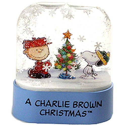 TOYSnPLAY Charlie Brown Christmas Snow Globe