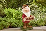 Decorative Home Garden Decor Rock Statue with WELCOME (GO AWAY) SIGN - 11.5 DISNEY GRUMPY- Landscape Cute Designed Outdoor Front yard Backyard Patio Deck Porch Stone-Character Themed-Beautiful Way to add accent to your Walkway or deck railing-Made of DURABLE & Resistant Material