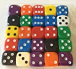 Dice - 25 x 16mm 6 sided spot dice -...
