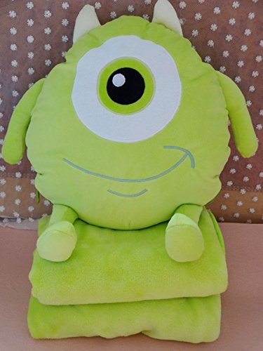 Monster Inc Wazowski Cute Cushion Plush Cover Pillow Blanket Air conditioning quilt Nap Folding (Monster Inc Quilt compare prices)