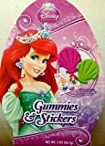 Princess Shaped Gummies and Stickers 2 Ounces - Varied