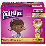 Pull-Ups Learning Designs Training Pants for Girls, Size 4T-5T, 56 Count