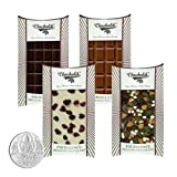 Chocholik Belgium Chocolate Gifts - Classic Collection Of Assorted Belgian Chocolate Bars With 5gm Pure Silver...