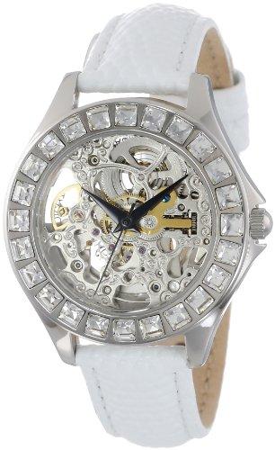 Burgmeister BM520-106 - Reloj analógico automático para mujer con correa de piel, color blanco