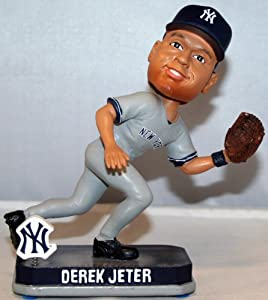 Derek Jeter 2014 New York Yankees Grey Springy Bobble Head by Forever Collectibles