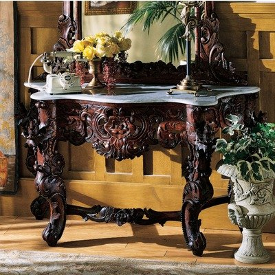 Cheap Hapsburg Marble Topped Console Table (GR325)