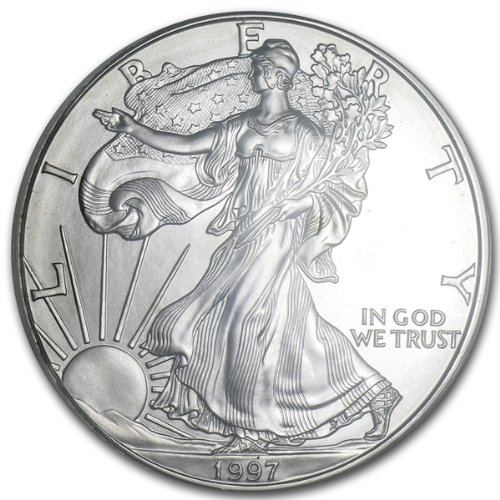 1997 - 1 Oz American Silver Eagle .999 Fine Silver Dollar Uncirculated Us Mint