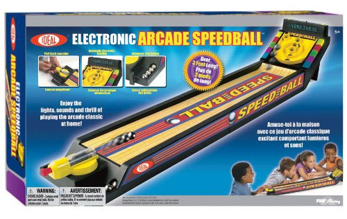 Poof-Slinky - Ideal Electronic Arcade Speedball Tabletop Game With Automatic Scoring And Ball Return, 33203Bl