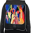 Rikki KnightTM August Macke Art With Yellow Jacket Back Pack