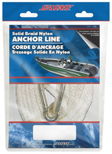 SeaSense Solid Braid Nylon Anchor Line, 3/16-Inch X 75-Foot