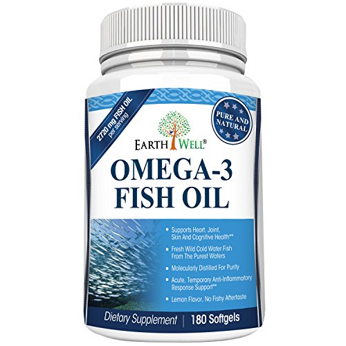 Earthwell Omega 3 Fish Oil Supplement Lemon Flavored - 180 Capsules (Earthwell Omega compare prices)