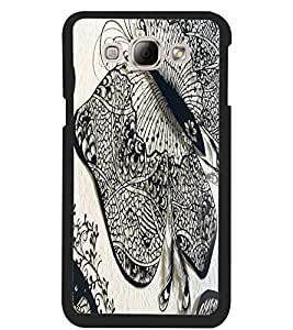 ColourCraft Butterfly Art Design Back Case Cover for SAMSUNG GALAXY A8