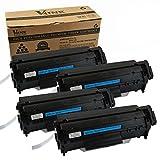 V4INK 4-Pack Q2612A Toner Cartridge