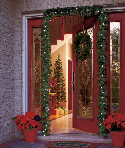 16 Ft Solar Powered Lighted Outdoor Garland Christmas Decor