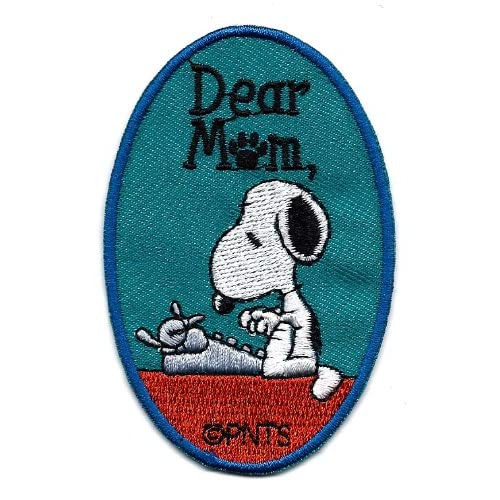 Snoopy typing letter to mom on typewriter ' Dear Mom ' Mother's Day