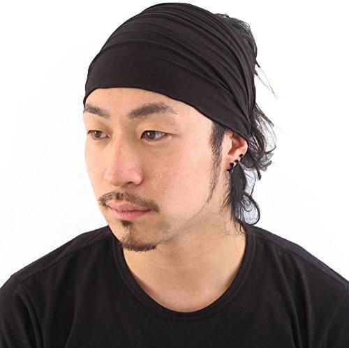 casualbox-herren-kopf-abdeckung-band-bandana-stretch-haar-stil-japanisch-schwarz