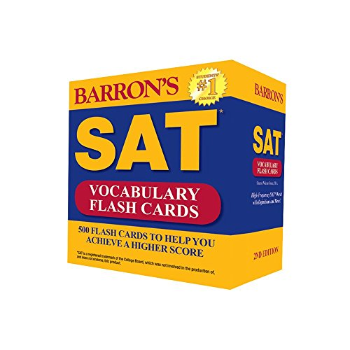 barron s sat vocabulary flash cards 2nd edition 500. Black Bedroom Furniture Sets. Home Design Ideas