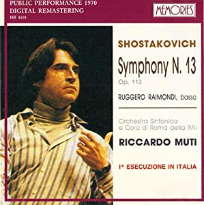 Chostakovitch : Symphonie n°13 51g0XdmUgwL._SY300_
