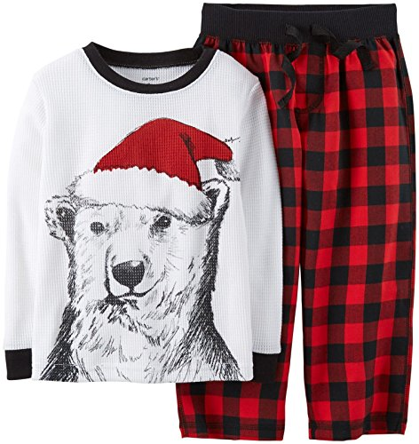 Carter'S Little Boys' 2 Piece Holiday Pj Set (Toddler/Kid) - Plaid - 5T front-997050
