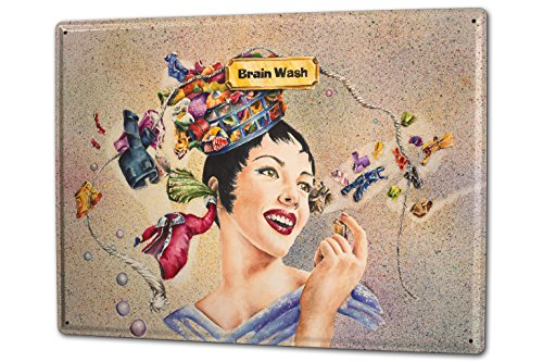 tin-sign-xxl-fun-ravtive-brainwashing-woman-head-thoughts-clothesline