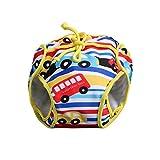 GudeHome Ajustable Bañador Pañal de Tela Reutilizable Lavable Diaper Para Bebé Pañales bañadores amarillo coche